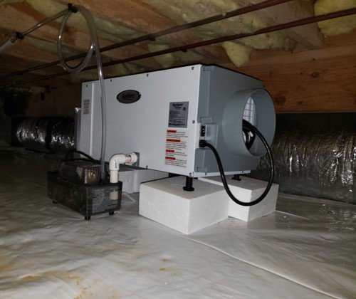 New Poly Moisture Barrier and Dehumidifier Installation 3